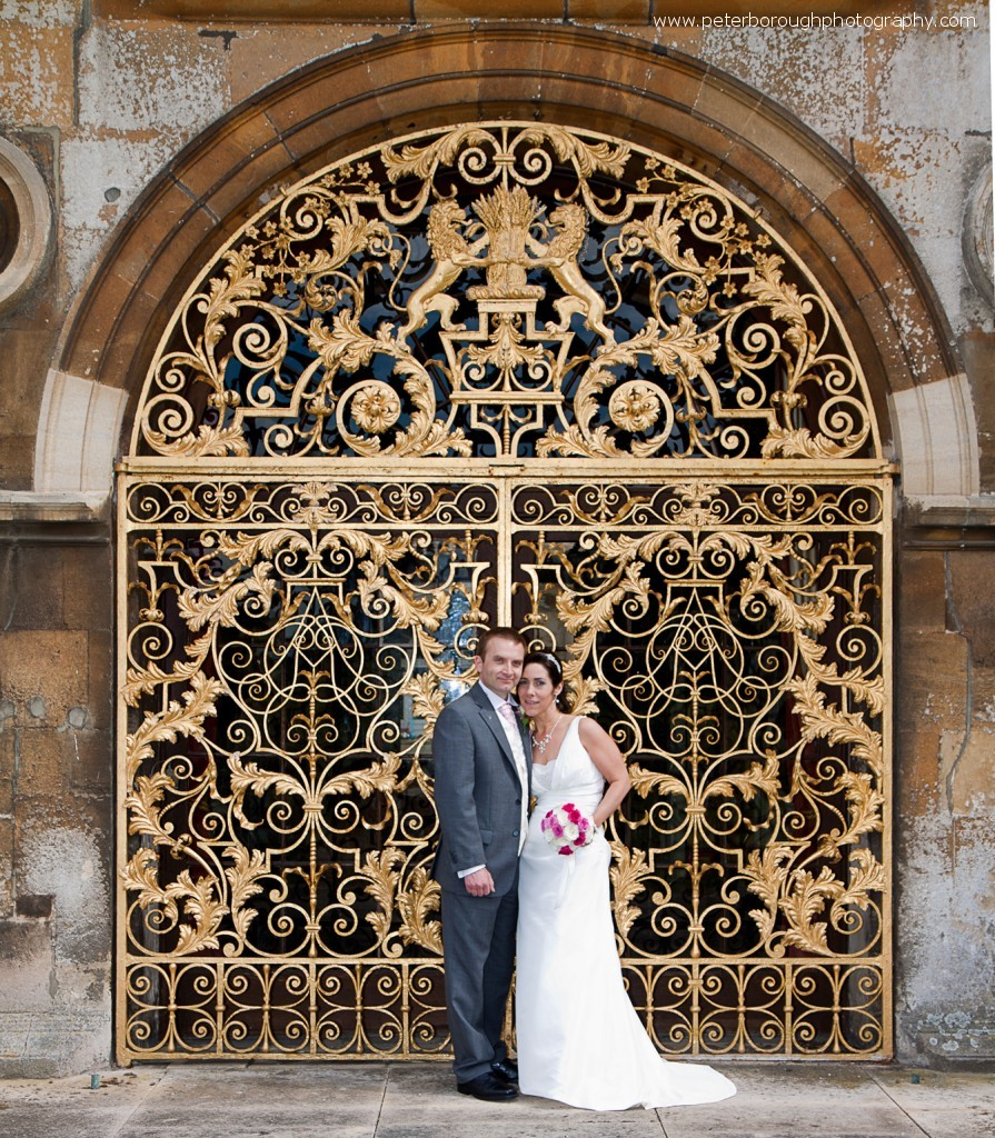 Burghley House Bride and Groom