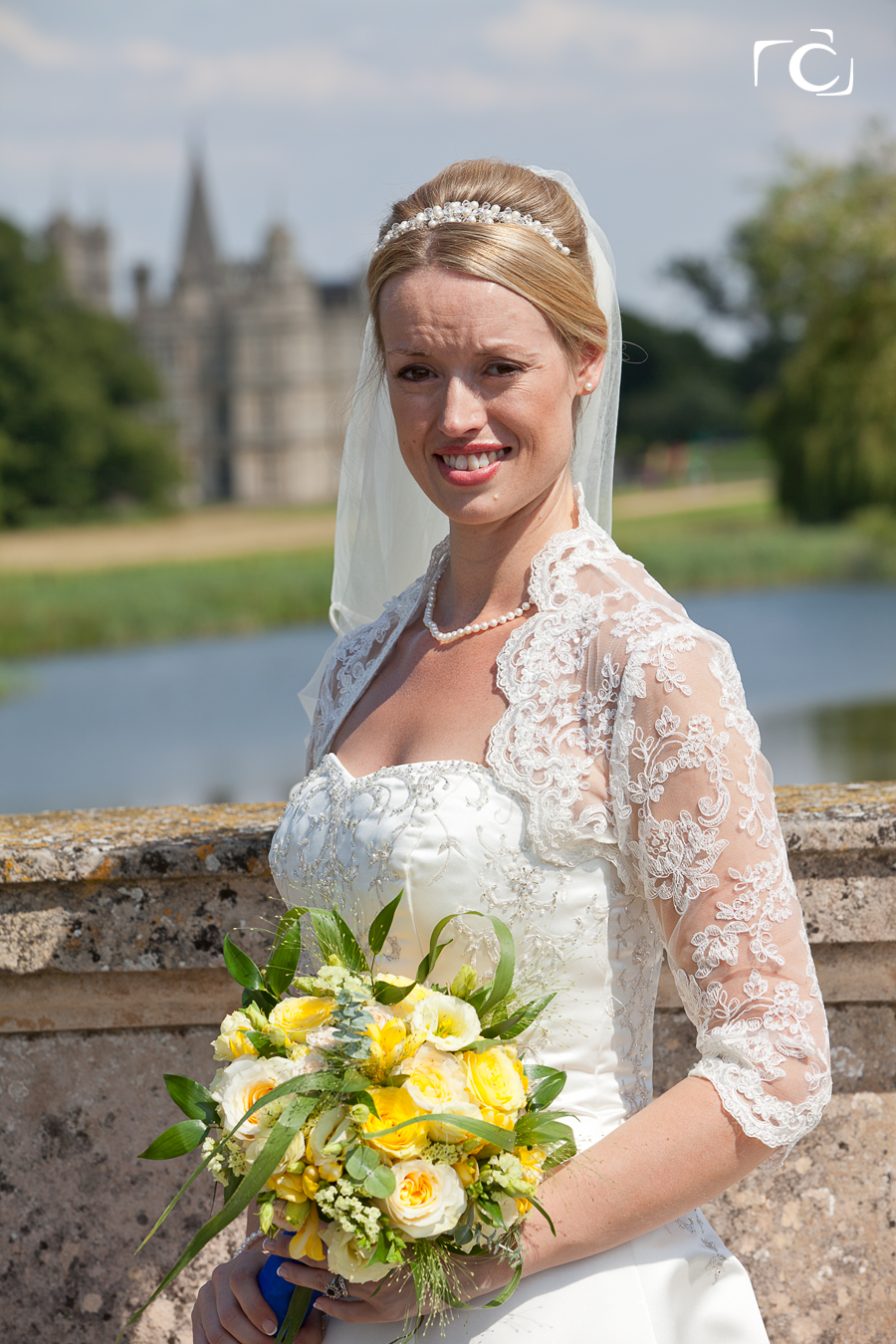 Wedding Photography Bride at Lions Bridge Burghley House