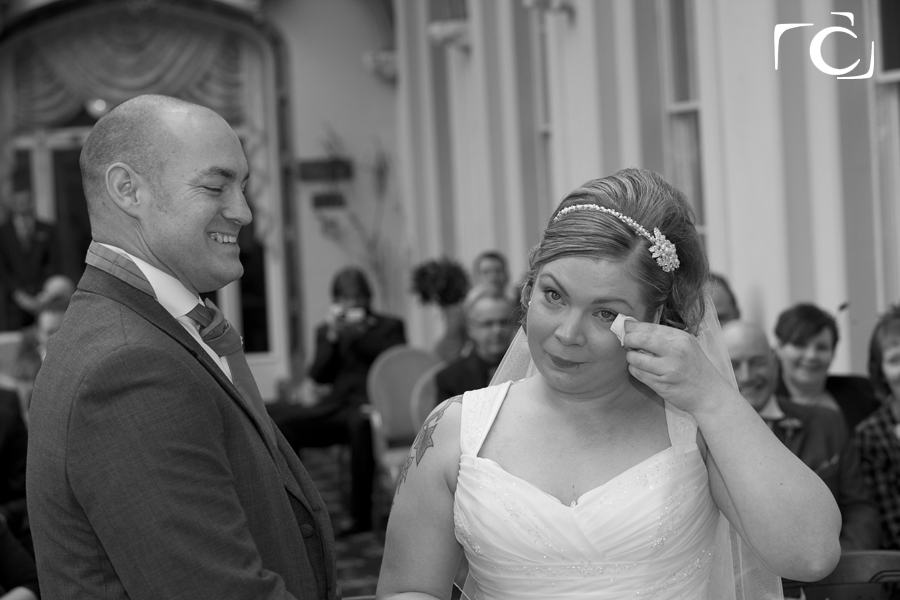 Wedding Photography Bride and Groom just married at The Orton Hall Hotel