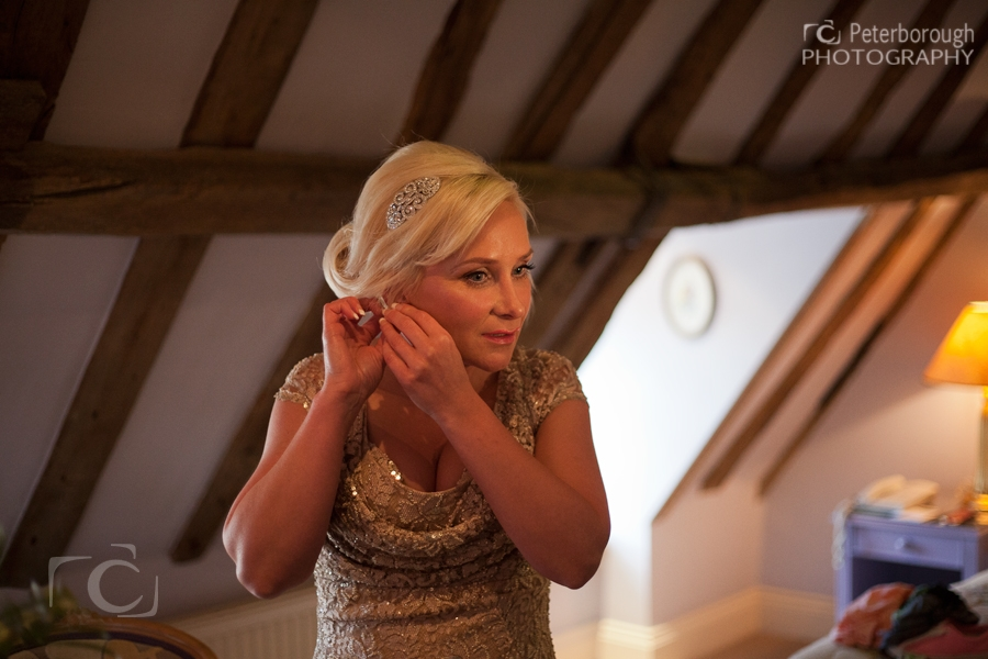Wedding Photographer Stamford - The George Hotel - Bride getting ready