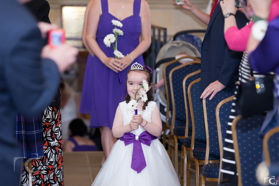 Normanton Church Wedding Flower Girl