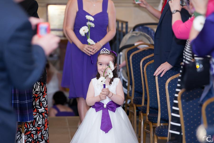Normanton Church Wedding Flower Girl