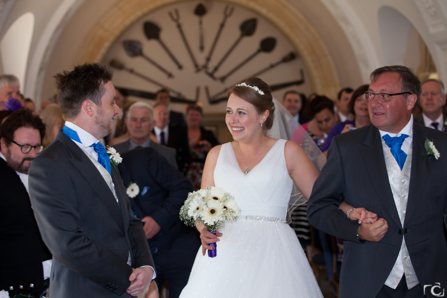 Martin and Emma getting married at Normanton Church